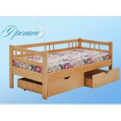 кровать Фрегат односпальная с бортиком и ящиками