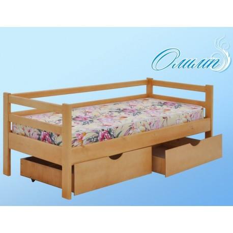 кровать с бортиком и ящиками Олимп односпальная