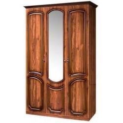Шкаф 3-х дверный с зеркалом от спальни Нега-9