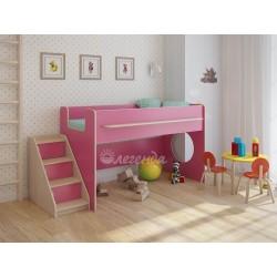 кровать-чердак Легенда-23.2 цвет розовый