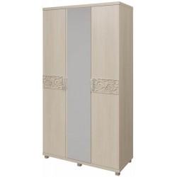 модуль №09 Ирис дуб Бодега Шкаф для платья и белья 3-х дверный