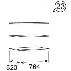 модуль №23 Ирис дуб Бодега Полка комплект 3шт. опция к мод 10, 11