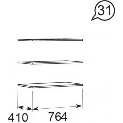 модуль №31 Ирис дуб Бодега Полка комплект 3шт. опция к мод 28