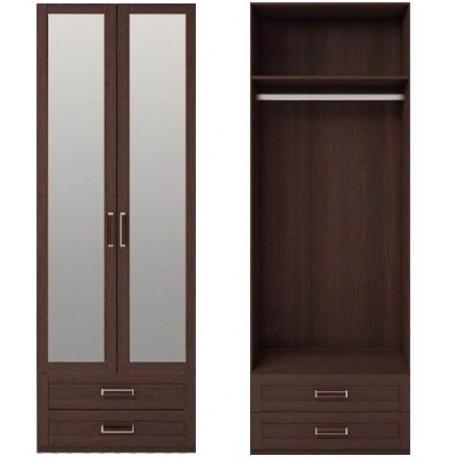 модуль №1 Скандинавия Шкаф для одежды 2-х дв. с ящиками и с зеркалом