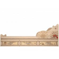 модуль №5 Квест Кровать 900 с ящиками комплектация 1
