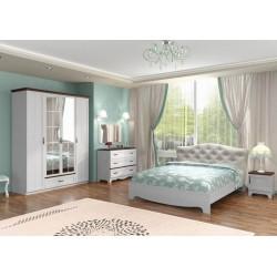 спальня Вентура комплект с кроватью мягкая спинка