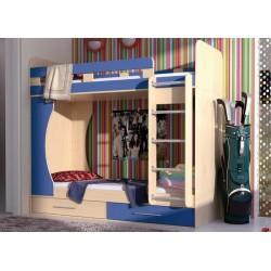кровать двухъярусная Дуэт-1 арт. 14.711 цвет Вяз / синий