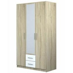 Шкаф 3-дверный с зеркалом Бергамо