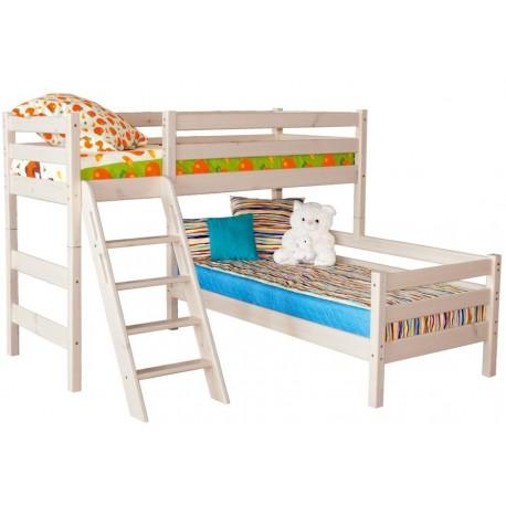 угловая кровать Соня с наклонной лестницей вариант №8