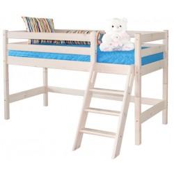 Кровать низкая Соня с наклонной лестницей вариант №12