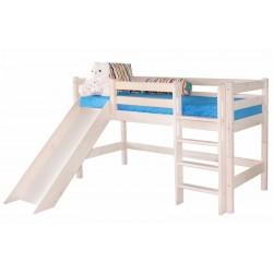 Кровать низкая Соня с прямой лестницей и горкой вариант №13