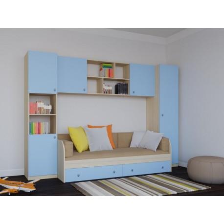 детская комната №2 Астра дуб молочный \ голубой
