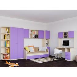 детская комната №4 Астра дуб молочный / фиолетовый