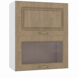 Шкаф навесной 600 горизонтальный 1 витрина 1 дверь Эмили
