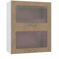 Шкаф навесной 600 горизонтальный 2 витрины Эмили