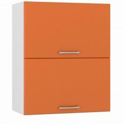 Шкаф навесной 600 горизонтальный 2 двери Сандра