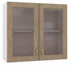 Шкаф навесной 800 2 витрины Эмили