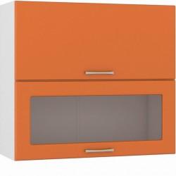 Шкаф навесной 800 горизонтальный 1 витрина 1 дверь Сандра