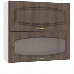 Шкаф навесной 800 горизонтальный 1 витрина 1 дверь Сильвия