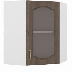 Шкаф навесной угловой витрина 600 Сильвия