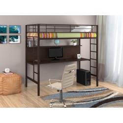 кровать-чердак Севилья-1 цвет коричневый в интерьере