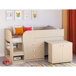 мини кровать чердак Астра-9 V7 молочный дуб / молочный дуб