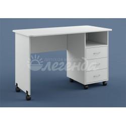белый письменно-компьютерный стол Л-03 Легенда