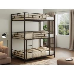 трёхъярусная кровать Эверест цвет коричневый