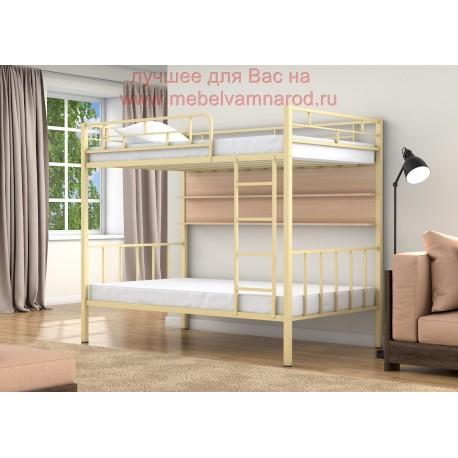 кровать двухъярусная Валенсия 120 полуторка цвет Слоновая кость