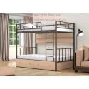 кровать двухъярусная Валенсия 120 с полкой и ящиками