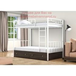 кровать двухъярусная Валенсия 120 с ящиками