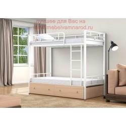 кровать двухъярусная Валенсия с ящиками