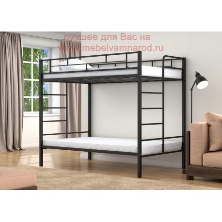 фото полуторная кровать двухъярусная Валенсия Твист 120
