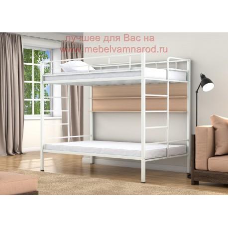 фото кровать полуторка двухъярусная Валенсия Твист 120 с полкой