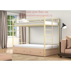 кровать двухъярусная Валенсия Твист 120 с ящиками