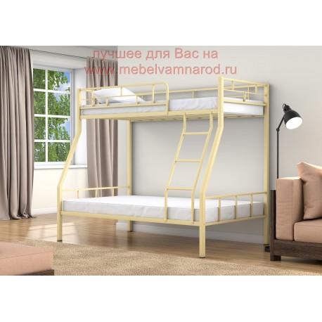 фото кровать двухъярусная Раута в цвете слоновая кость