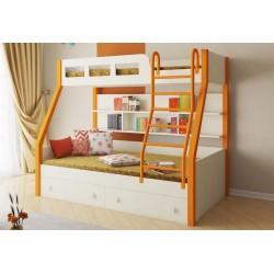 двухъярусная кровать Рио с металлическими стойками
