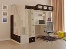кровать-чердак Астра-7 с лестницей-стеллаж