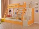 двухъярусная кровать Рио с лестницей-стеллаж