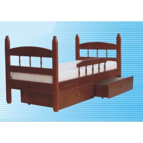 кровать односпальная КУЗЯ-1 детская, деревянная