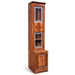 Шкаф для книг 1-дверный со стеклом Азалия-12 левый
