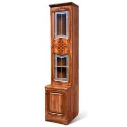 Шкаф для книг 1-дверный со стеклом Азалия-12 правый
