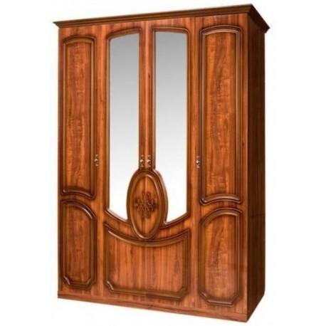 Шкаф 4-х дверный с зеркалом от спальни Нега-9