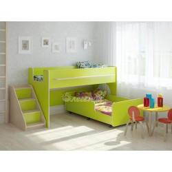 кровать двухъярусная Легенда-23.4 цвет лайм