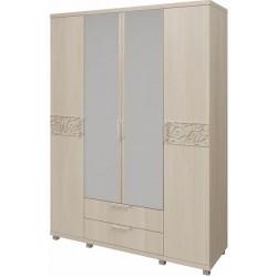 модуль №06 Ирис дуб Бодега Шкаф для одежды 4-х дверный с ящиками