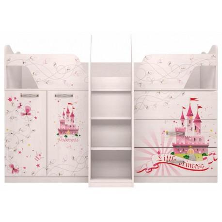 модуль №9 Принцесса Комплекс универсальный кровать-чердак