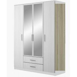 Шкаф 4-дверный с зеркалом Бергамо