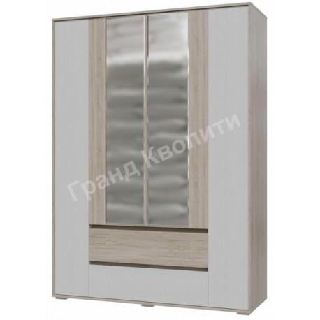 4-4811 Шкаф 4-х дверный с ящиками Мальта