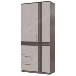 4-4819 Шкаф 2-х дверный с ящиками Презент