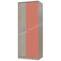 6-9411 Шкаф для одежды Сити фасад коралл